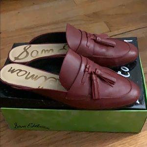 Sam Edelman red mule loafer